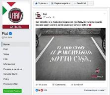 Il post pubblicato da Fiat in occasione di San Valentino